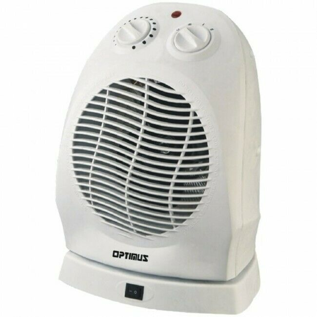 Optimus H-1382 Portable Oscillating Fan Heater with Thermost