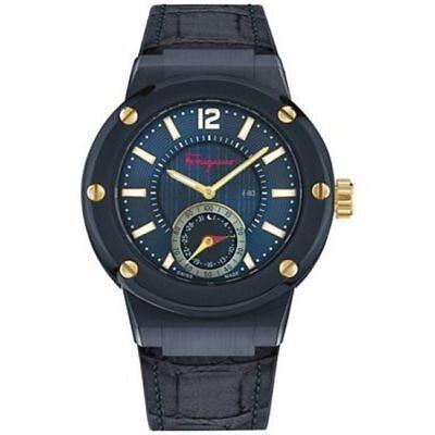 New Salvatore Ferragamo F-80 Smart Blue Men's Watch FAZ010016
