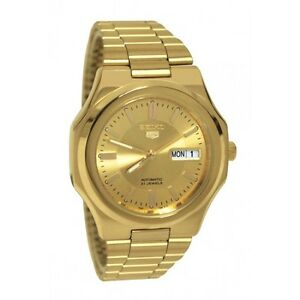 Seiko Men's SNKK52 5 Automatic Gold-Tone Stainless-Steel Watch
