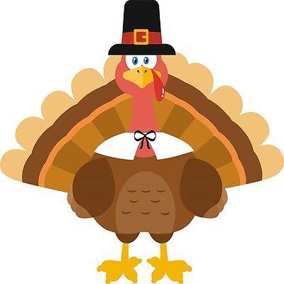 30 Custom Cartoon Thanksgiving Turkey Personalized Address Labels