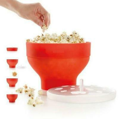Popcorn Maker Microwave Air Best Silicone Bowl Movie Party Gift Popping