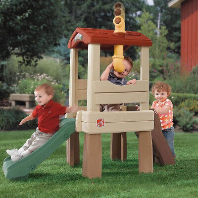 Kids Outdoor Slide Playhouse Toy Climb Children Garden Yard Tree House Play - Outdoor Climbing Toys