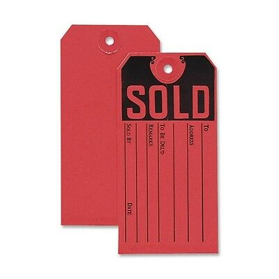 50 Cardstock Red Sold Product Tags 4 3 4  X 2 3 8 Furniture Appliance Store