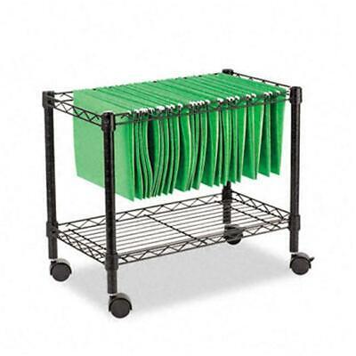 Alera Fw601424bl Single-tier Rolling File Cart 24w X 14d X 21h Black