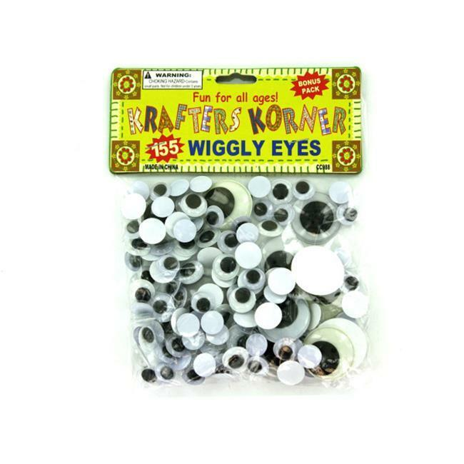 Bulk Buys CC988-48 Craft Wiggly Eyes - Pack of 48