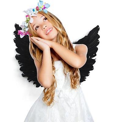 Feather Wings Angel Fairy Adults Kids Fancy Dress Costume Halloween Party Favor  - Halloween Fairy Wings Adults