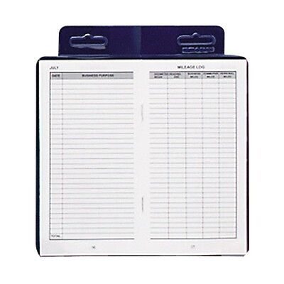 Dome(R) Auto Mileage Log Vinyl Cover 3 14in.x6 14in. - Auto Mileage Log