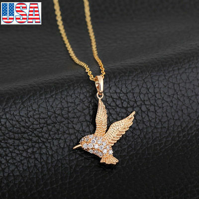 Fashion Jewelry Bird  Pendant  Gold Plated Necklace For Lady Girl For Wedding (Bird Pendant Gold Plated Jewelry)