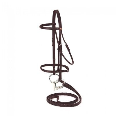 NEW Silver Fox Raised Snaffle Bridle - Mini, Brown