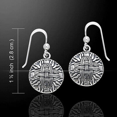 Courtney Davis Cross Of St  Brigid  925 Sterling Silver Earrings By Peter Stone