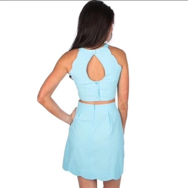 Lauren James Carly Two Piece. Never Worn. Small in baby blue
