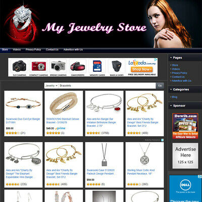 Jewelry Store - Complete Ready Made Online Business Affiliate Website For Sale