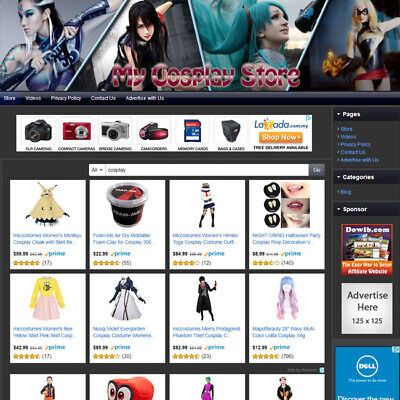 Cosplay Store - Online Ecommerce Home Based Affiliate Business Website For Sale