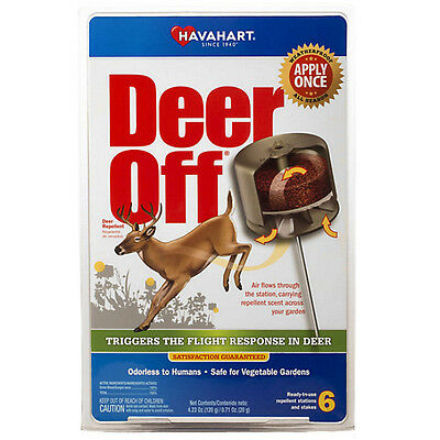 Havahart Deer - Havahart DO5600-6 Deer Off Waterproof Deer Repellent Stations, 6-Pack