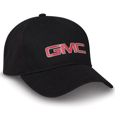 GMC Truck Logo Medallion Baseball Cap Black / Red Hat - Truck Hats