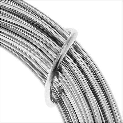 Artistic Wire, Aluminum Craft Wire 12 Gauge Thick, 12 Meter, Natural Aluminum