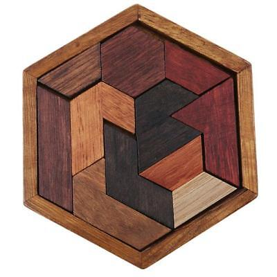 Wooden Intelligence Toys Chinese Brain Teaser Game 3D IQ Puzzle for Kids Jian - Chinese Toys