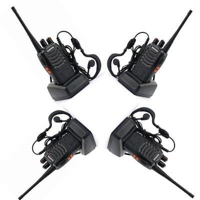 4x Baofeng BF-888S UHF Transceiver 5W CTCSS Two-way Ham Radio 16CH Walkie Talkie