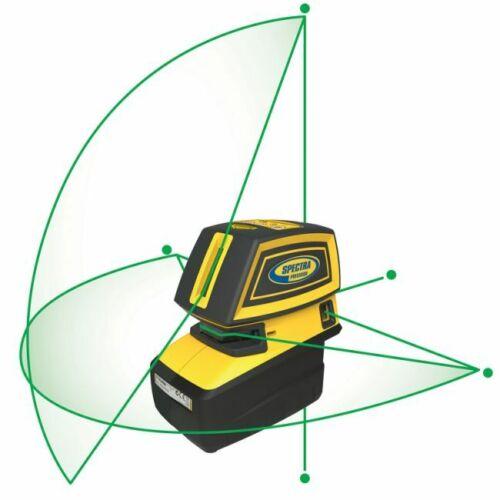 NEW  Spectra Precision LT52G - 5 x Green Beam Laser Tool, Multi Line Laser Level