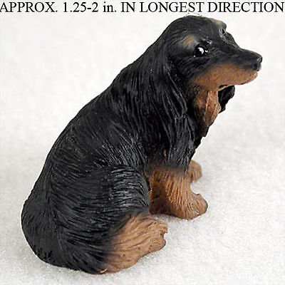 Dachshund Mini Resin Hand Painted Dog Figurine Statue Longhair
