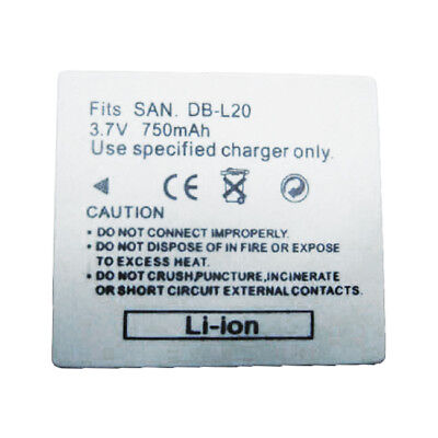 DB-L20 DBL20 750mAh Replacement Battery for SANYO Xacti VPC-CG6 VPC-CG9 VPC-CG65 for sale  Shipping to South Africa