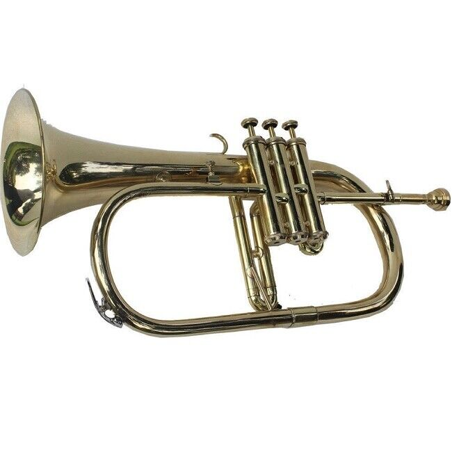 NEW MONTH SALE BRASS Bb FLUGEL HORN+FREE CASE+MOUTHIPICE+FAST SHIPPING
