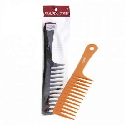 ANNIE SHAMPOO COMB WITH HANDLE #22 WIDE TOOTH YOU PICK COLOR!