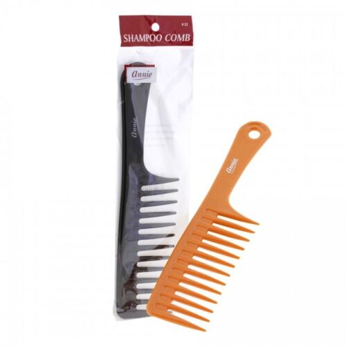 ANNIE SHAMPOO COMB WITH HANDLE #22 WIDE TOOTH YOU PICK COLOR