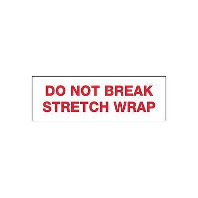 Tape Logic Pre-printed Carton Sealing Tape Do Not Break Stretch Wrap 2.2 Mil