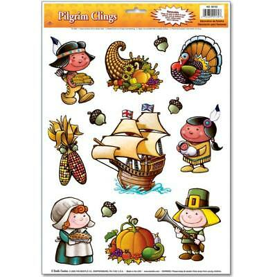Pilgrim Window Clings Thanksgiving Party Decorations](Thanksgiving Party Supplies)