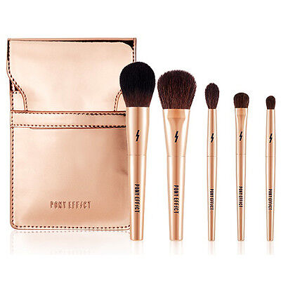 Pony Effect MINI Make-Up Brush 1 Set(5 items),Meme box,  Korea Cosmetics