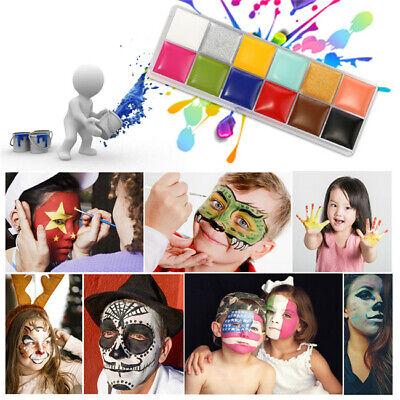 Pro Face Body Paint Oil Painting Art Palettes Make Up Kit Sets Party DIY Fancy](Face Paint Diy)