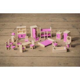 Complete Dolls house furniture set