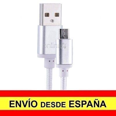 Cable Datos Cargador USB - MICRO USB Nylón Anti Enredo Teléfono Tablet...
