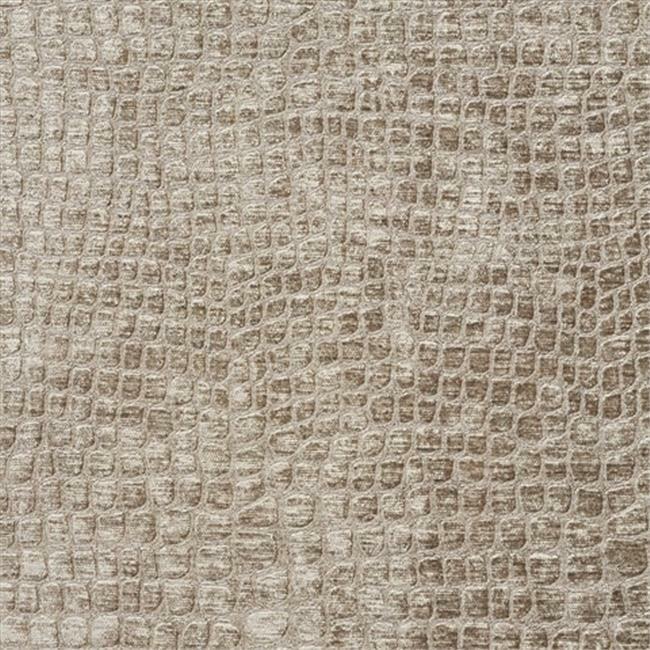 Designer Fabrics K0151G 54 in. Wide Platinum Textured Alligator Shiny Woven V...