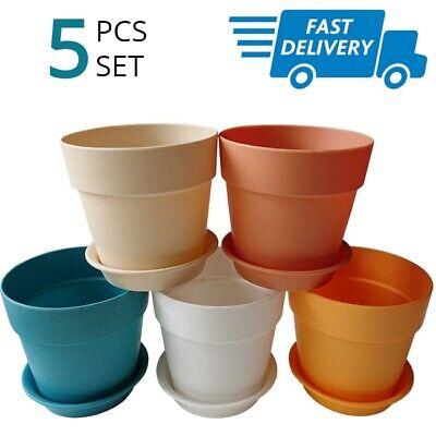 Small Plant Pots Little Mini Plastic Pot Set For Cactus Plants Succulents 5 Pcs](Small Pots For Plants)