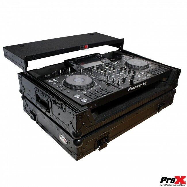 Pro X Flight Case Fits Pioneer XDJ-RX2 Case Black with Laptop Shelf and Wheels