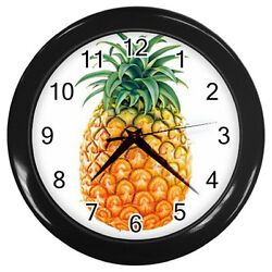 New Wall Clock Tasty Pineapple / Fresh Fruits Kitchen Wall Clock!