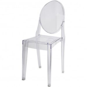 Brand New Ghost Chair with Armless, Set of 4