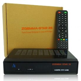 Zgemma star H2 with 320g hard drive with 12 months gift plug and play