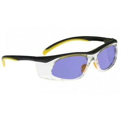 Poly Sodium Flare Glass Working Glasses in Yellow/Black Safety Frame - 50-19-142