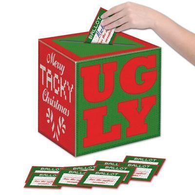 Ugly Sweater Ballot (Ugly Christmas Sweater Ballot Box w/Ballots Ugly Christmas Party)