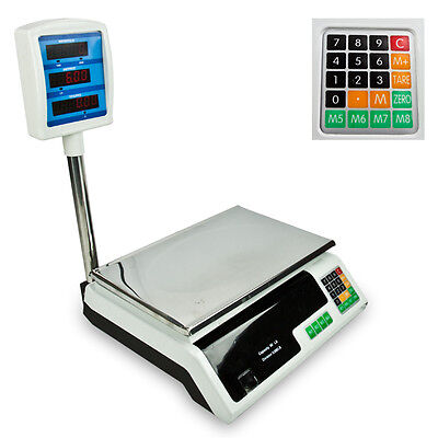 60 Lb Digital Food Meat Produce Price Weight Computing Digital Scale 66 Lb New