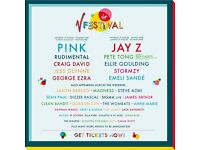 2 V festival weekend camping tickets Weston Park