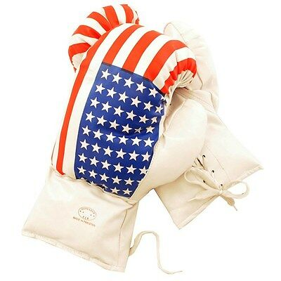 Flag Boxing Gloves - 20 OZ BOXING PRACTICE TRAINING GLOVES USA Sparring American Flag Extra Large XL