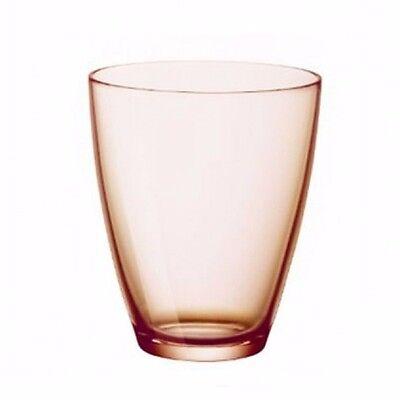 Bormioli Rocco Zeno (Peach colored) Cocktail Glasses-1 dozen/ All 9 doz (Peach Colored Glasses)