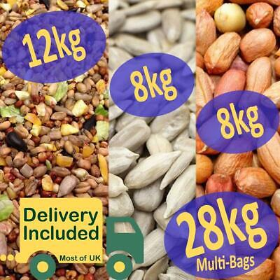 28kg *PREMIUM*  Wild Bird Mix / Sunflower Hearts / Peanuts *SEED SELECTION*
