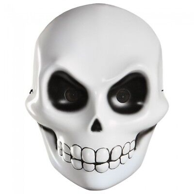 GRIM REAPER SKELETON FACE MASK SCARY ADULT HALLOWEEN COSTUME ACCESSORY  - Halloween Grim Face