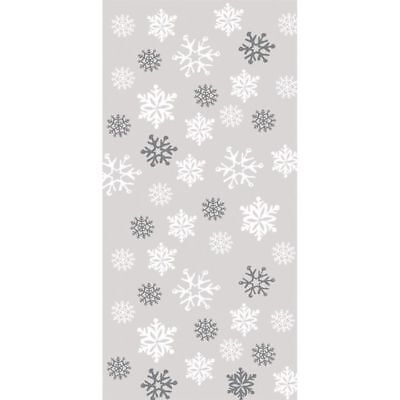 Large Snowflakes Cello Bags 20 Pack Winter Christmas Party Decoration](Snowflake Ornament Favors)