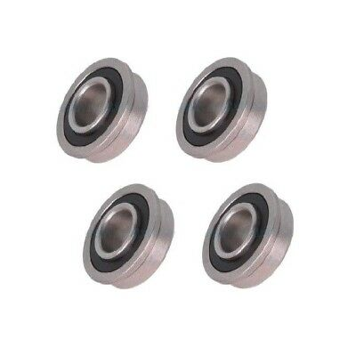 Four Precision Sealed Flanged 1-18 Od X 12 Id Bearings